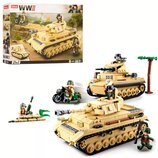 Конструктор SLUBAN M38-B0693. Конструктор аналог Лего. Конструктор танк. Военная техника. Слубан.