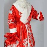 Карнавальный костюм Дед Мороз бархат