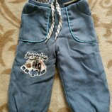 Теплые вельветовые штаны джинсы на травке