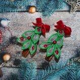 Заколки ялинки новорічні