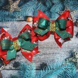 Резинки новогодние бантики