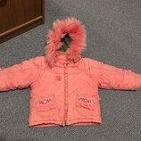 Зимняя курточка от 2 до 4 лет с мехом Холофайбер куртка