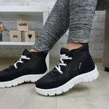 Ботинки кроссовки высокие зима