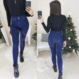 Джинсы женские американка, синие New Jeans 3472, осенние, стрейчевые р. 25,26,27,28,29,30