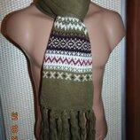 Новий стильний фирменний шарфик шарф .хаки.Германия C&A.унисекс с-м-л-хл .