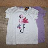 Комплект новых футболок девочке на рост 110-116 см от Lupilu, Германия