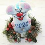 мышка новогодняя 2020