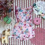 Ромпер песочник летний комбинезон в цветы вискоза Primark на 3-6 мес