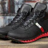 Зимние мужские ботинки на меху Tommy Hilfiger Tech Motion, черные