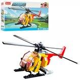 Конструктор SLUBAN M38-B0667A вертолет, фигурка, 100дет, в кор-ке, 23,5-14-4,5см