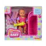 Пупс с ванночкой Baby Set, 12 см, New Born Baby 5033218