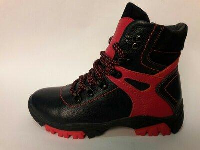 Зимние ботиночки для мальчиков из натуральной кожи.