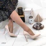 Женские замшевые туфли лодочки