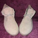 Мужские замшевые ботинки, дезерты