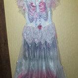 Карнавальное платье принцесса зомби скелет TU 11-12лет готическая принцесса