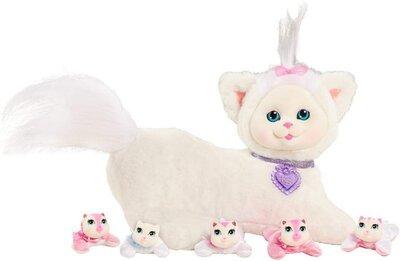 Kitty Surprise Мягкая игрушка-сюрприз Беременная кошка с котятами белая 42304 Ivory12 Plush