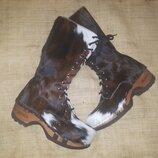 38р-25 см Devich натуральный мех ботинки внутри кожа легкие высота от пола 36 каблук 4.5 под пальца