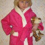 Детский махровый халат с ушками на капюшоне, цена зависит от размера.