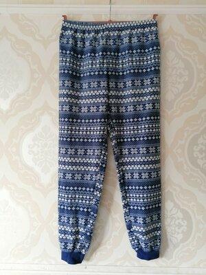 Размер 14 Красивые фирменные флисовые пижамные домашние штаны