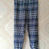 Размер 14 Красивые фирменные флисовые пижвмные домашние штаны