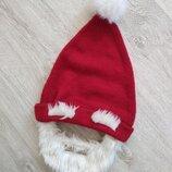 Новогодняя шапка борода дед Мороз,николай.