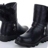 Новинка зимние сапоги ботинки для девочек фирмы clibee рр.32 33 34 35 36 37
