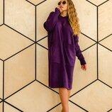 Вязаное платье Соня,4 цвета