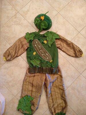 прокат карнавальный костюм огірок Огурец огірочк Огурчик на утренник Киев для мальчика