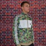 Олимпийка Bape x Adidas.Купить кофту адидас три полоски в Украине.