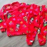 Яркая, красочная, тёплая и мягенькая пижама ЛОЛ для девочек