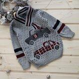 Новинка Крутой свитер для мальчика с имитацией шарфа Турция