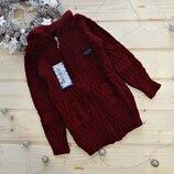 Новинка Крутой свитер для мальчика на молнии с капюшоном с карманами Турция