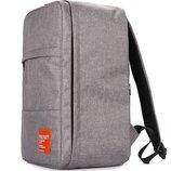 Рюкзак для ручной клади PoolParty HUB серый - Ryanair / Wizz Air / Мау