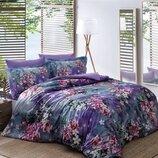 Двуспальный евро комплект Тас Daphne Сатин-Digital постель цветы