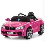 Розовая машина для девочки Бмв 2773