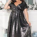 Платье пайетки на подкладе 48-50,52-54,56-58