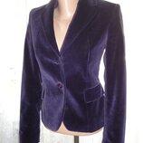 Велюровый пиджак Cristina dal Lago Италия р.XS ог 82, рук.58,пл.36