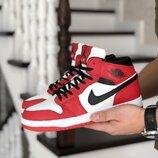 Nike air jordan 1 retro кроссовки зимние на меху
