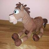 Мягкая игрушка конь лошадь Булзай из мультфильма Истории игрушек Дисней Disney клеймо 45 см