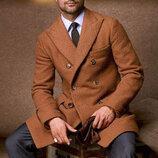 Классические брендовые брюки в вертикальную полоску Simon Carter, шерсть