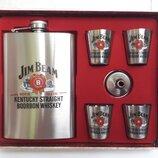 Подарочный набор Jim Beam фляга рюмки лейка