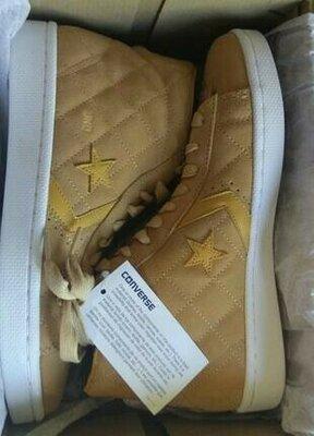 Converse pro leather кожа замша 42 высокие кеды кроссовки
