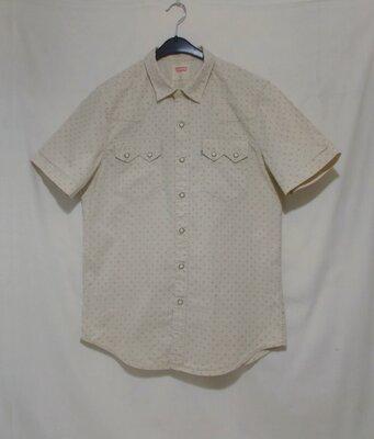 Рубашка деним слим бледно-желтая на кнопках 'Levis' 46-50р
