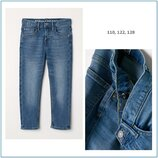 Детские зауженные джинсы h&m slim 110 122 128