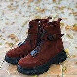 Замшевые ботинки. Зима, деми