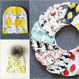 Детские трикотажные шапки/шапочки, 5 цветов, новые