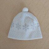 Демисезонная шапка Снежинка на девочку 6-8 лет
