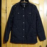 Отличная черная утепленная удлиненная куртка Chasin' Denim Голландия L.