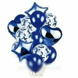 Набор латексных и фольгированных шаров для оформления праздника. 10 шт