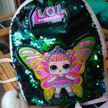 Детский рюкзак лол LOL в пайетку с паетками перевертыши
